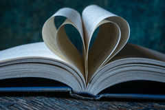 Heart Shaped Pages in a Book Stock Image