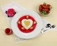 Heart Shaped Pancake Stock Photos