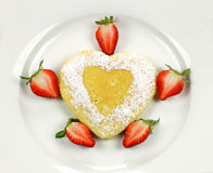Heart Shaped Pancake Stock Images