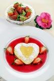 Heart Shaped Pancake Stock Photo