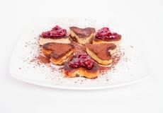 Heart shaped pancake Stock Image