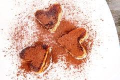 Heart shaped pancakes Royalty Free Stock Image