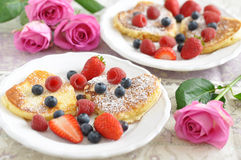Heart Shaped Pancakes Stock Photos