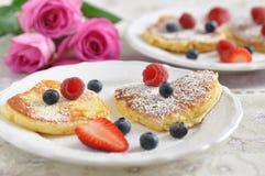 Heart Shaped Pancakes Stock Image
