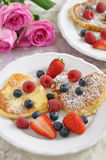 Heart Shaped Pancakes Royalty Free Stock Photo