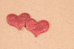 Heart-shaped  on a paper Royalty Free Stock Images