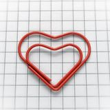 Heart shaped paper clip Royalty Free Stock Image