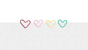 Heart shaped paper clip Royalty Free Stock Photography