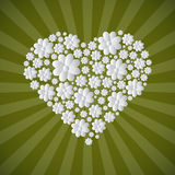 Heart Shaped Paper Cut Flowers Royalty Free Stock Images