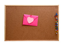 Heart shaped paper notes with envelope Royalty Free Stock Photo