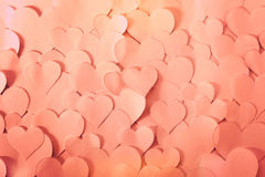 Heart shaped papers, very romantic and cute. Royalty Free Stock Photo