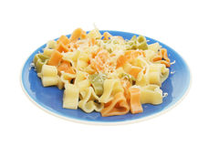 Heart shaped pasta Royalty Free Stock Images