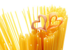 Heart shaped pasta Royalty Free Stock Photos