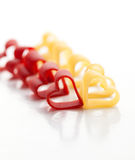Heart-shaped pasta Royalty Free Stock Photo