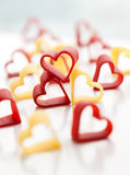 Heart-shaped pasta Stock Images