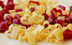 Heart-shaped pasta Royalty Free Stock Image