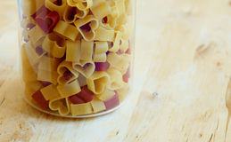 Heart-shaped pasta Royalty Free Stock Photography