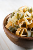 Heart shaped pasta Stock Photography