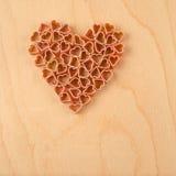 Heart-shaped pasta Royalty Free Stock Image