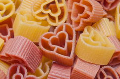 Heart shaped pasta Stock Photography