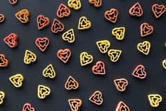 Heart shaped pasta Royalty Free Stock Photo
