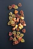 Heart shaped pasta Royalty Free Stock Photo