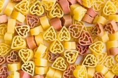 Heart shaped pasta Stock Photo
