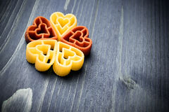 Heart shaped pasta Stock Image
