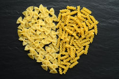Heart shaped pasta Royalty Free Stock Photography