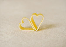 Heart shaped pasta still life Stock Image