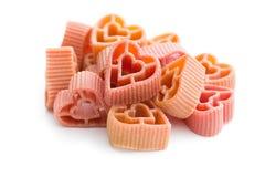 Heart shaped pasta Royalty Free Stock Image