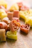 Heart shaped pasta Royalty Free Stock Photos