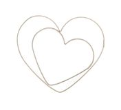 Heart shaped pastry cutters. Two heart shaped pastry cutters Stock Photography