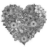 Heart-shaped pattern illustration Stock Images