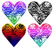 heart shaped pattern, t-shirt design stock illustration
