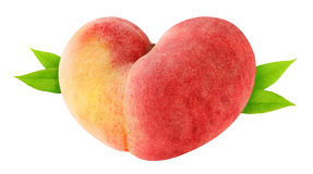Heart-shaped peach Royalty Free Stock Photo