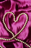 Heart shaped pearl necklace Stock Photography
