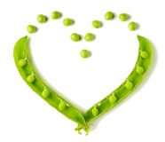 Heart shaped peas Royalty Free Stock Photos