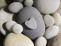 Heart shaped pebble Stock Photography