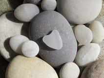 Heart shaped pebble Stock Photography