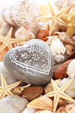 Heart shaped pebble. Stock Photography