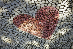 Heart shaped pebble pavement Stock Image