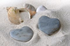 Heart shaped pebbles Stock Image