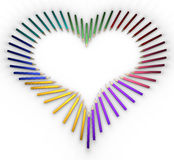 Heart-shaped pencils Royalty Free Stock Photo