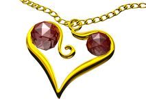 Heart shaped pendant  Stock Photo