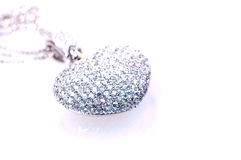 Heart shaped pendant close up Stock Photos