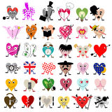 Heart shaped personality portraits Royalty Free Stock Images