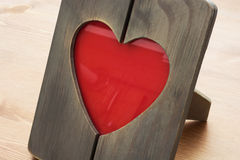 Heart shaped photo frame Stock Photo