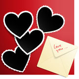 Heart shaped photo templates. Stock Images