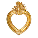 Heart shaped picture frame Stock Image
